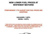WHITEWAY MOTORS FUEL PRICE DROP